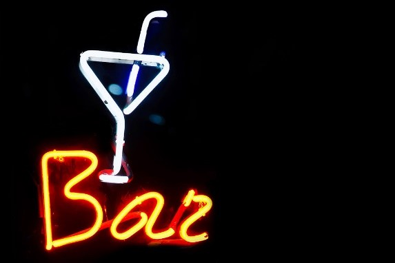 home bar decor neon sign