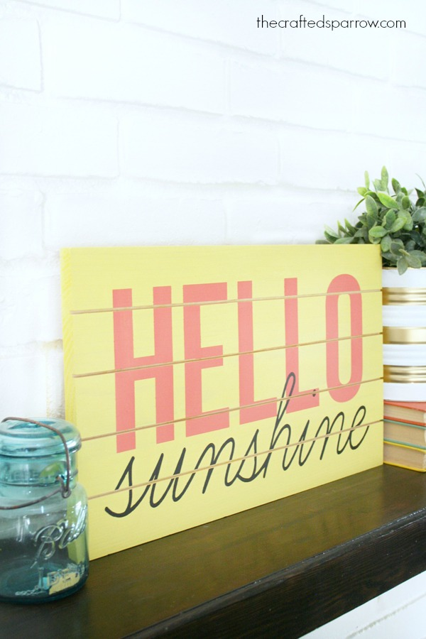 stenciled sign