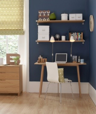 simple shelving for home office