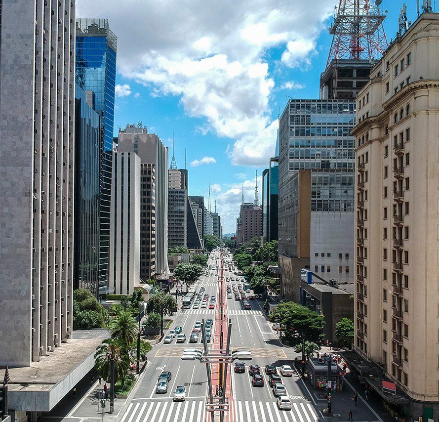 Sao Paulo, Brazil.  View of principle street and buildings | Greystar