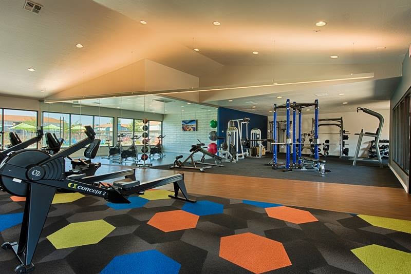 fitness center at Indian Springs Apartments
