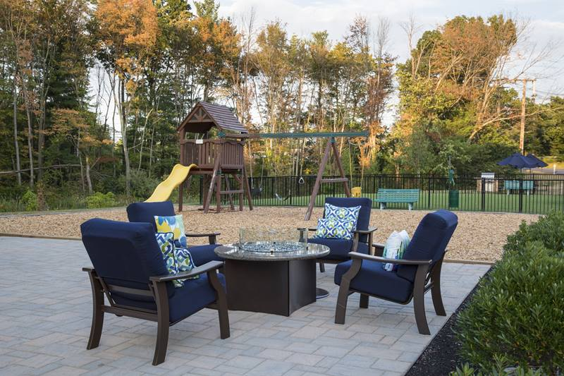 firepit at Regency Place Apartments