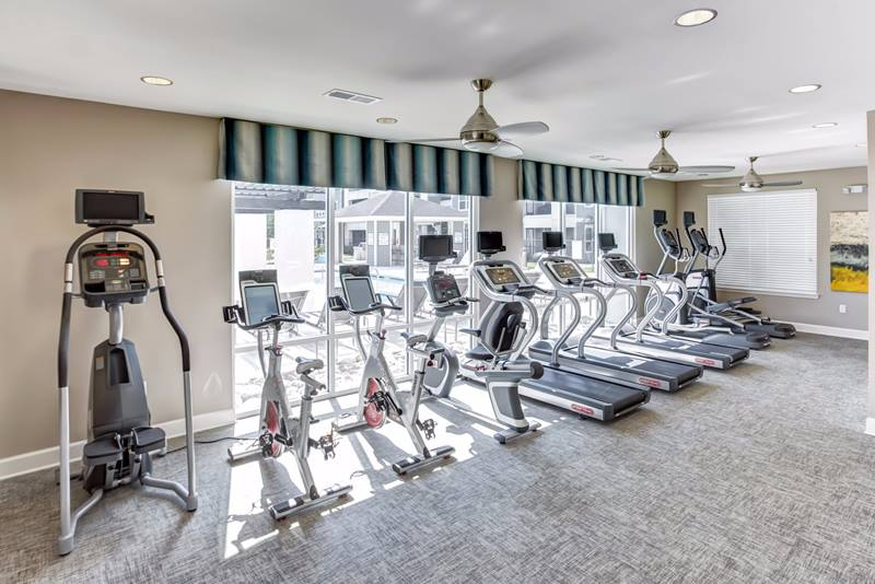 fitness center at Atlantic at Parkridge Apartments