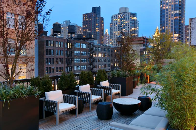 rooftop patio at The Chelsea Apartments