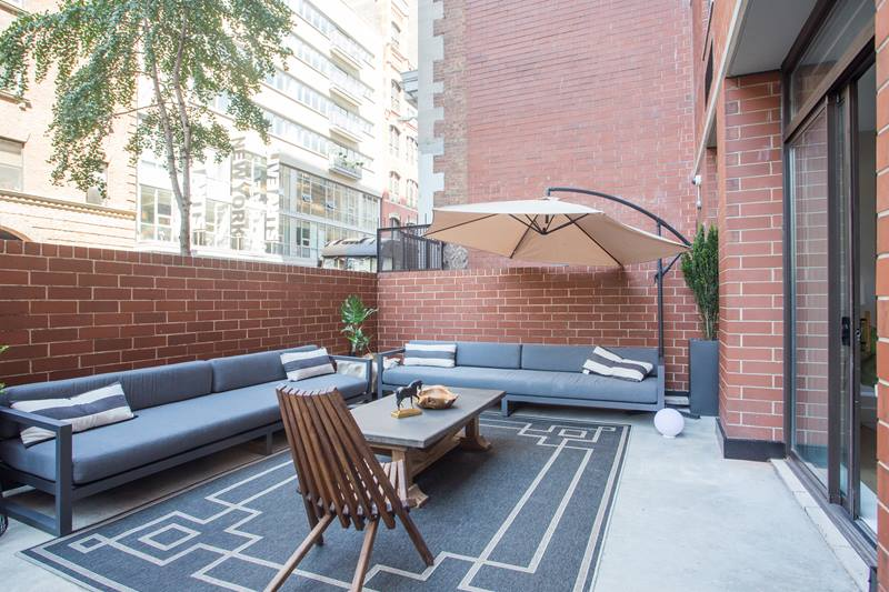 patio at The Grove Apartments