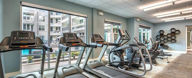 fitness center at Overture Point Chesapeake Apartments