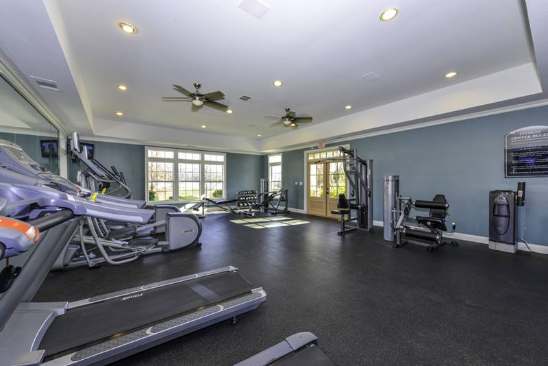 fitness center at Duck Pond at Johns Creek Apartments