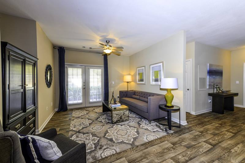 living room at Duck Pond at Johns Creek Apartments