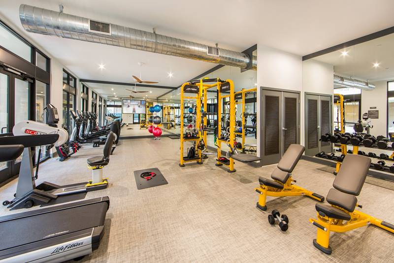fitness center at Maxfield at Marc San Marcos Apartments