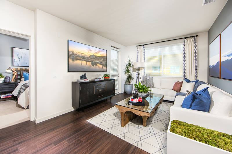living room at Maxfield at Marc San Marcos Apartments