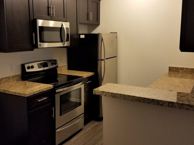 kitchen at Clarendon Park Apartments