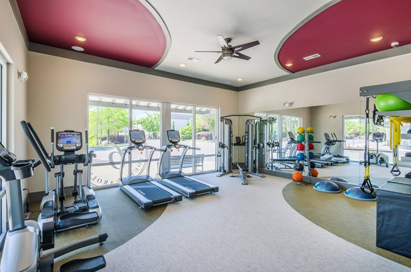 fitness center at The Six