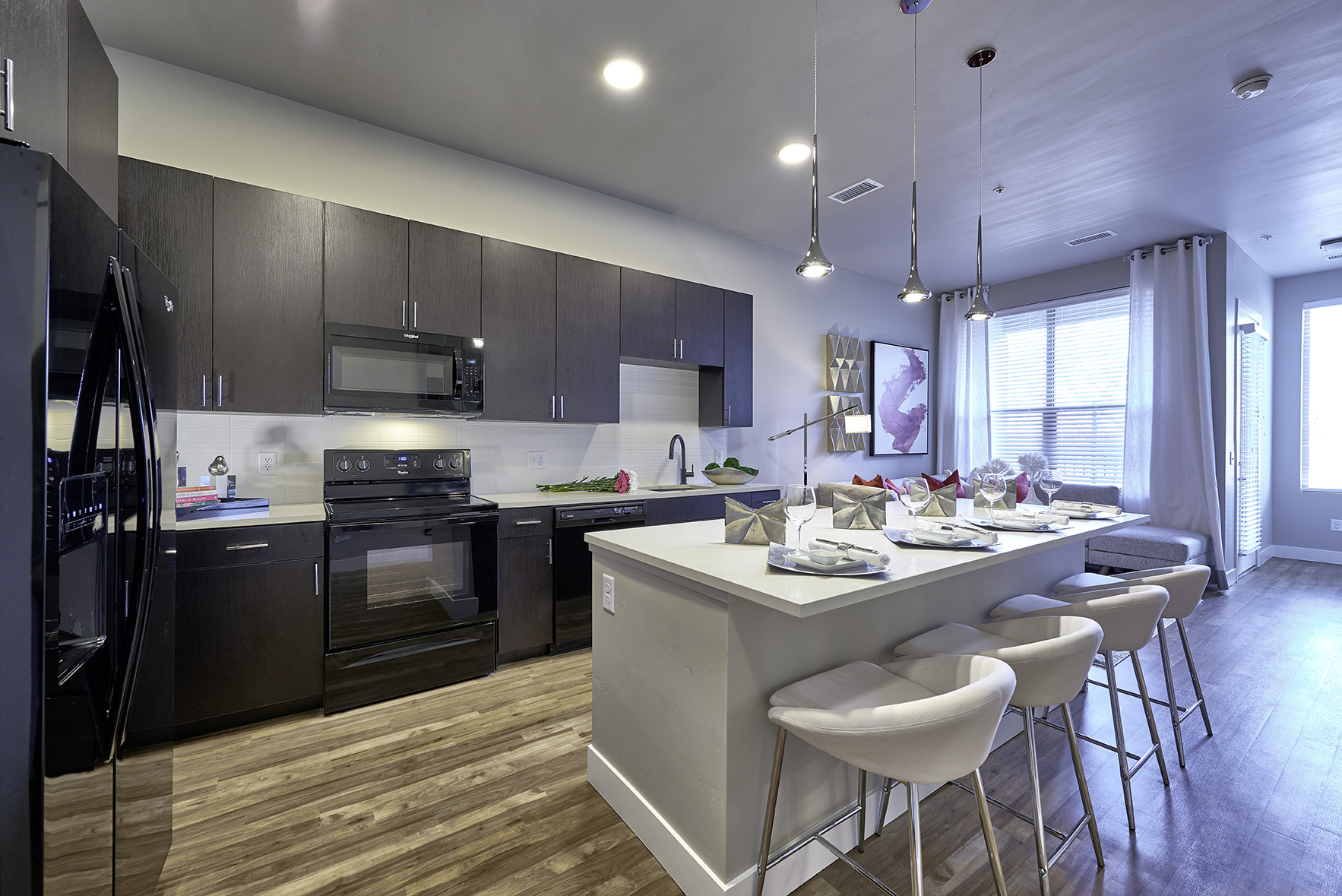 Kitchen At Muse Apartments