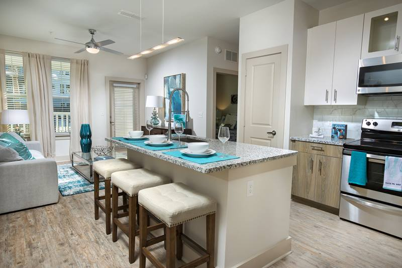 kitchen at Sea Glass Apartments