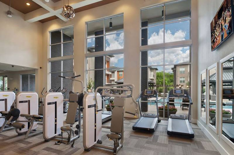 fitness center at Locale Apartments