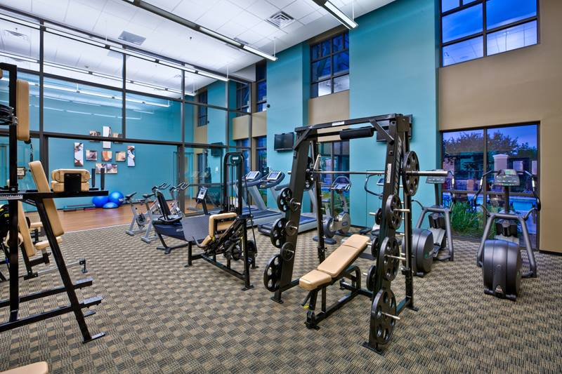 fitness center at 4550 Cherry Creek Apartments