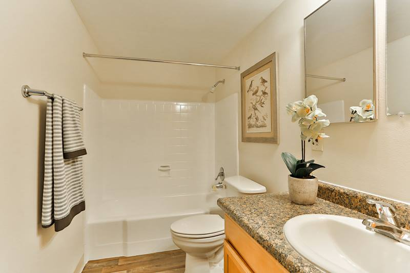bathroom at Paradise Palms Apartments