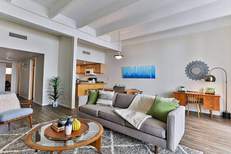 living room at Paradise Palms Apartments