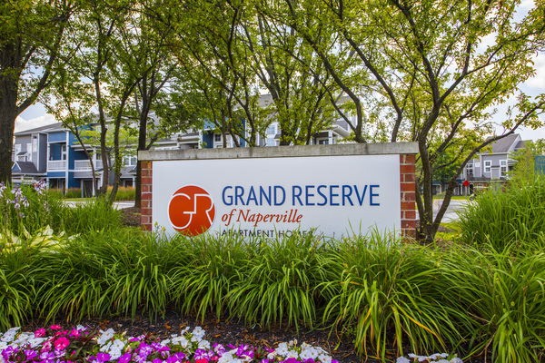 signage at Grand Reserve Apartments