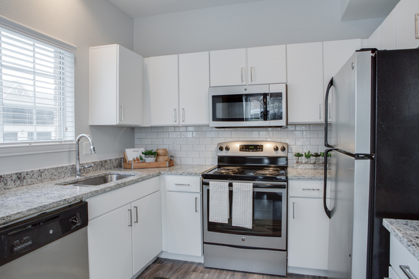 kitchen at The Palmer at Las Colinas Apartments