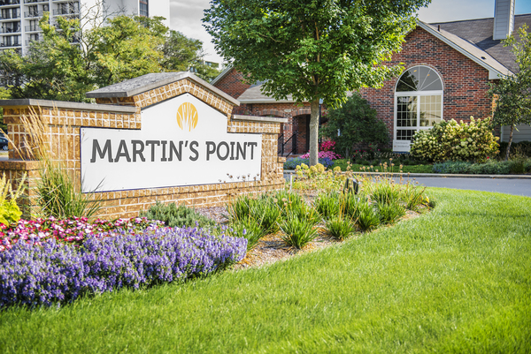 signage at Martin's Point Apartments