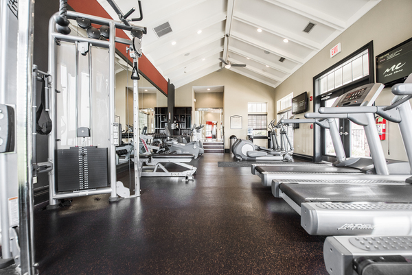 fitness center at Martin's Point Apartments