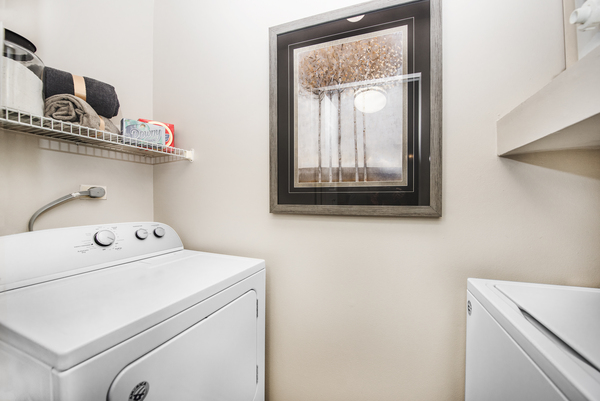 laundry room at Martin's Point Apartments