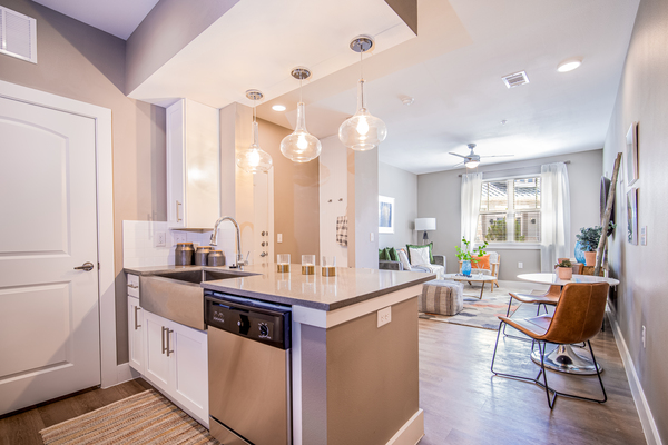 kitchen at The Woodford on Mockingbird apartments