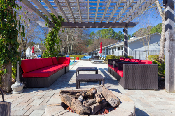 fire pit at Avana Druid Hills Apartments