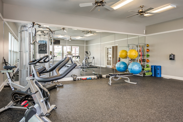 fitness center at Copper Chase at Stones Crossing Apartments