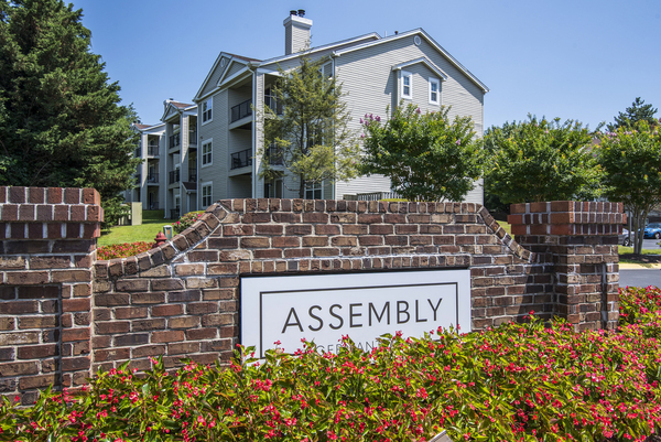signage at Assembly Germantown Apartments