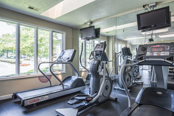 fitness center at Assembly Germantown Apartments