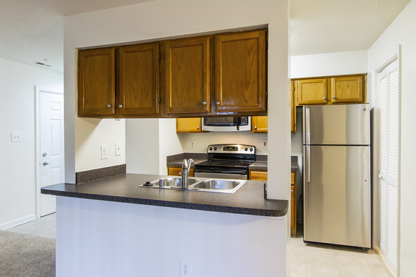 kitchen at Assembly Germantown Apartments