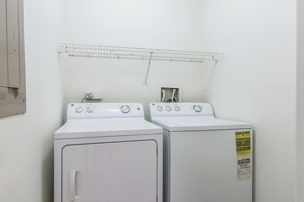 laundry room at Assembly Germantown Apartments
