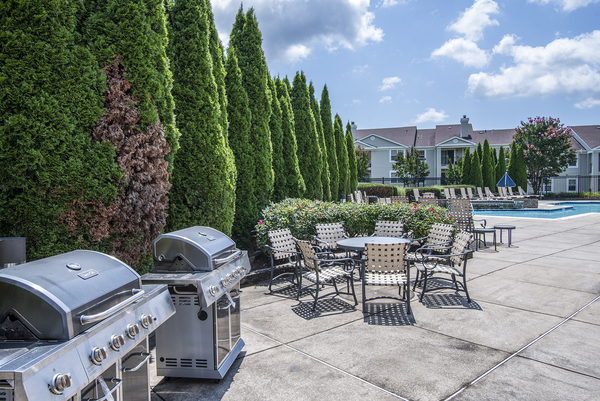 grill area at Assembly Germantown Apartments