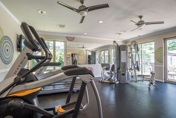 fitness center at Assembly Watkins Mill Apartments