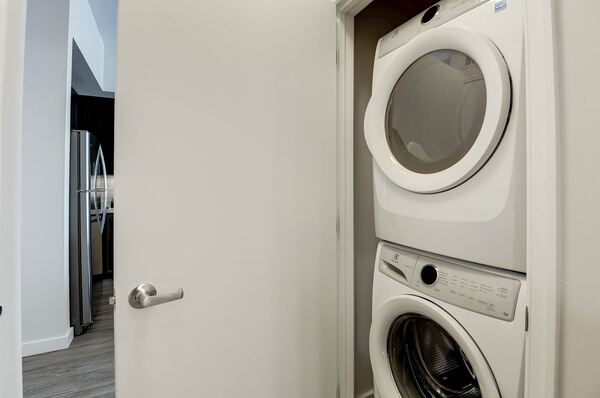 laundry room at Denizen Apartments