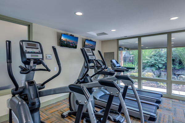 fitness center at The Berkshire Apartments