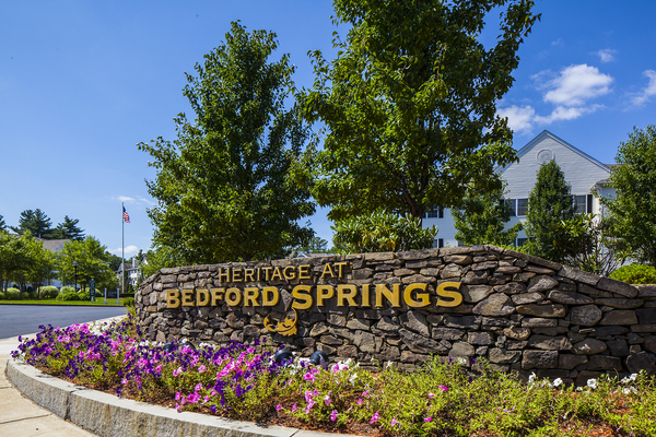 signage at Heritage at Bedford Springs Apartments
