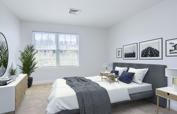 bedroom at Heritage at Bedford Springs Apartments