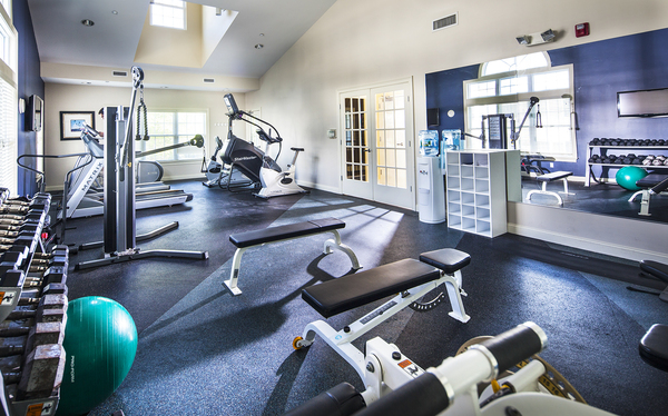 fitness center at Heritage at Bedford Springs Apartments