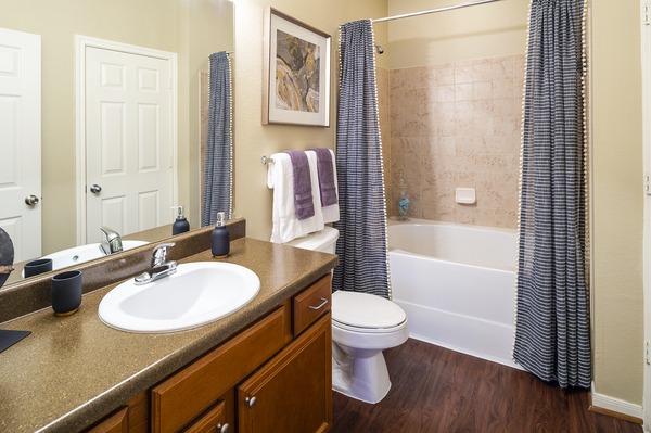 bathroom at The Reserve at Fall Creek Apartments