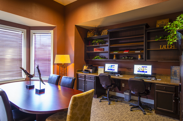 business center at The Reserve at Fall Creek Apartments