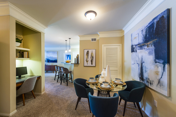 dining room at The Reserve at Fall Creek Apartments
