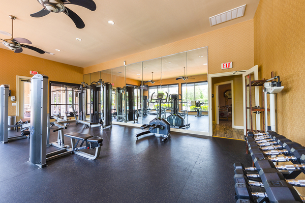 fitness center at The Reserve at Fall Creek Apartments