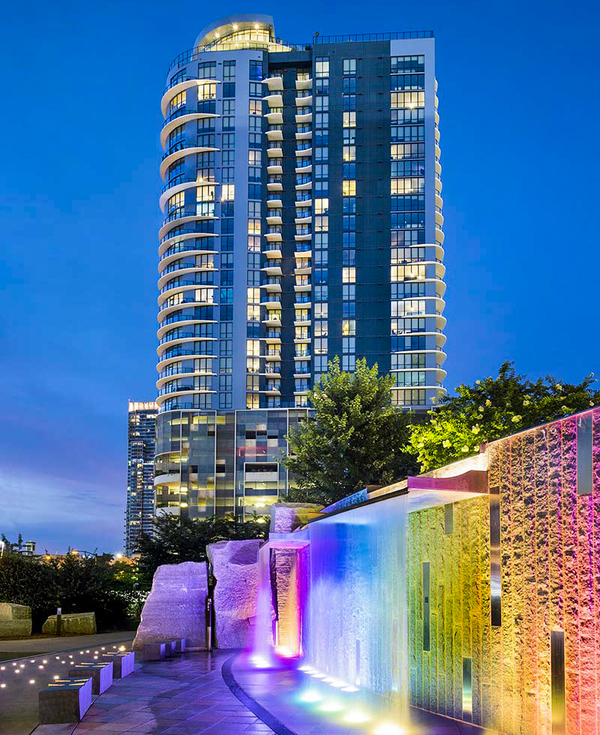 exterior at Ascent Uptown Apartments