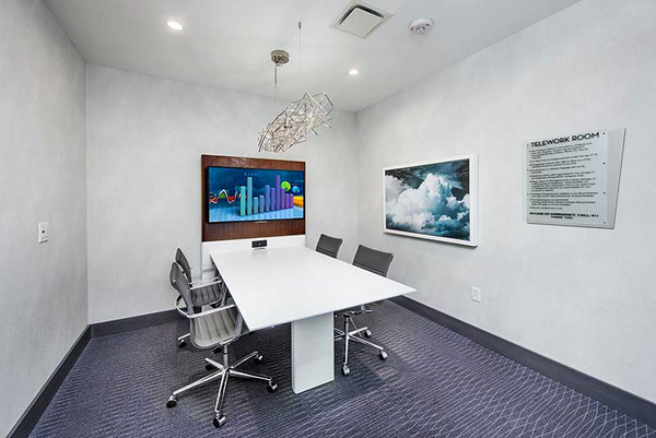 meeting facility at Ascent Uptown Apartments