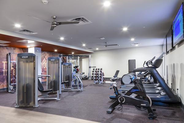 fitness center at 50 Front Apartments