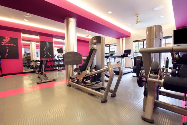 fitness center at Arlo Buffalo Heights Apartments