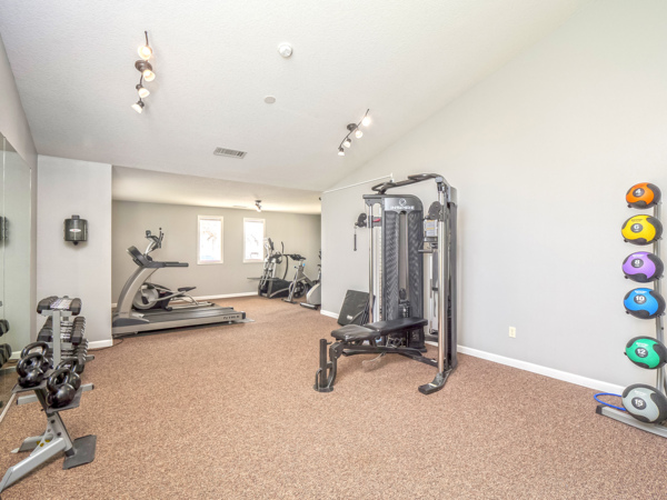 fitness center at Meadow Wood Apartments